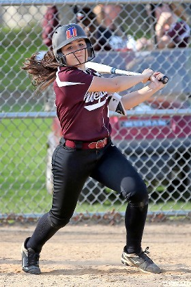 Sophomore Jenna Giliberti homered in Mepham's 21-10 win in the first game of last week's Class A semifinal playoff sweep of top-seeded MacArthur.