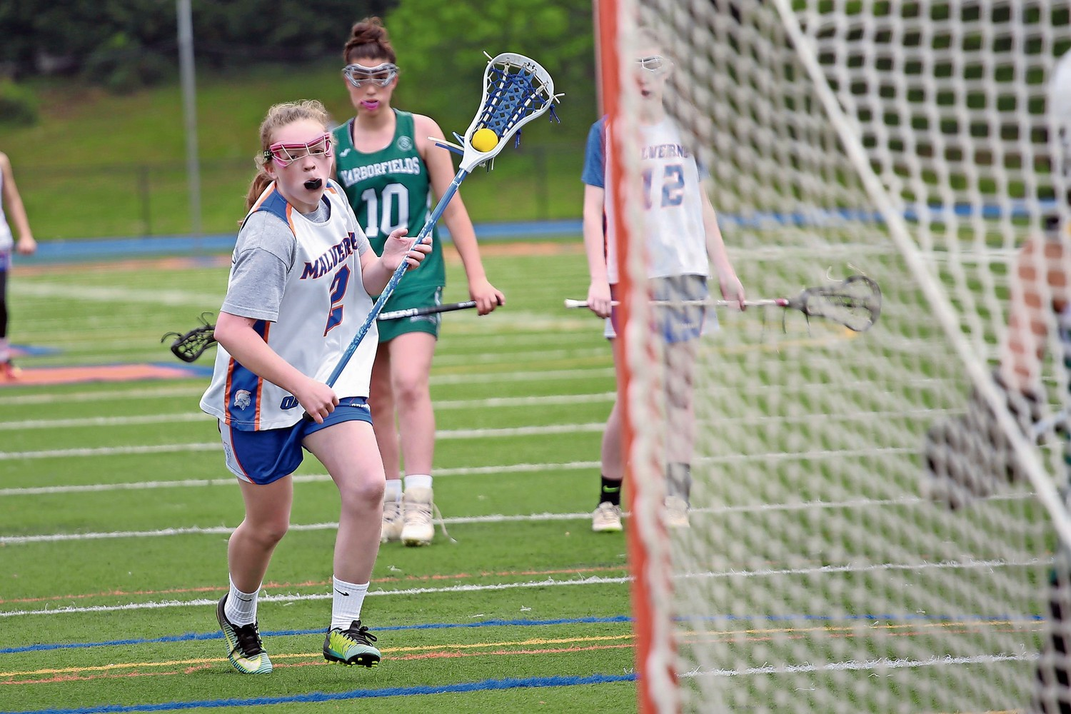 Ella Lapham had her sights set on scoring a goal.