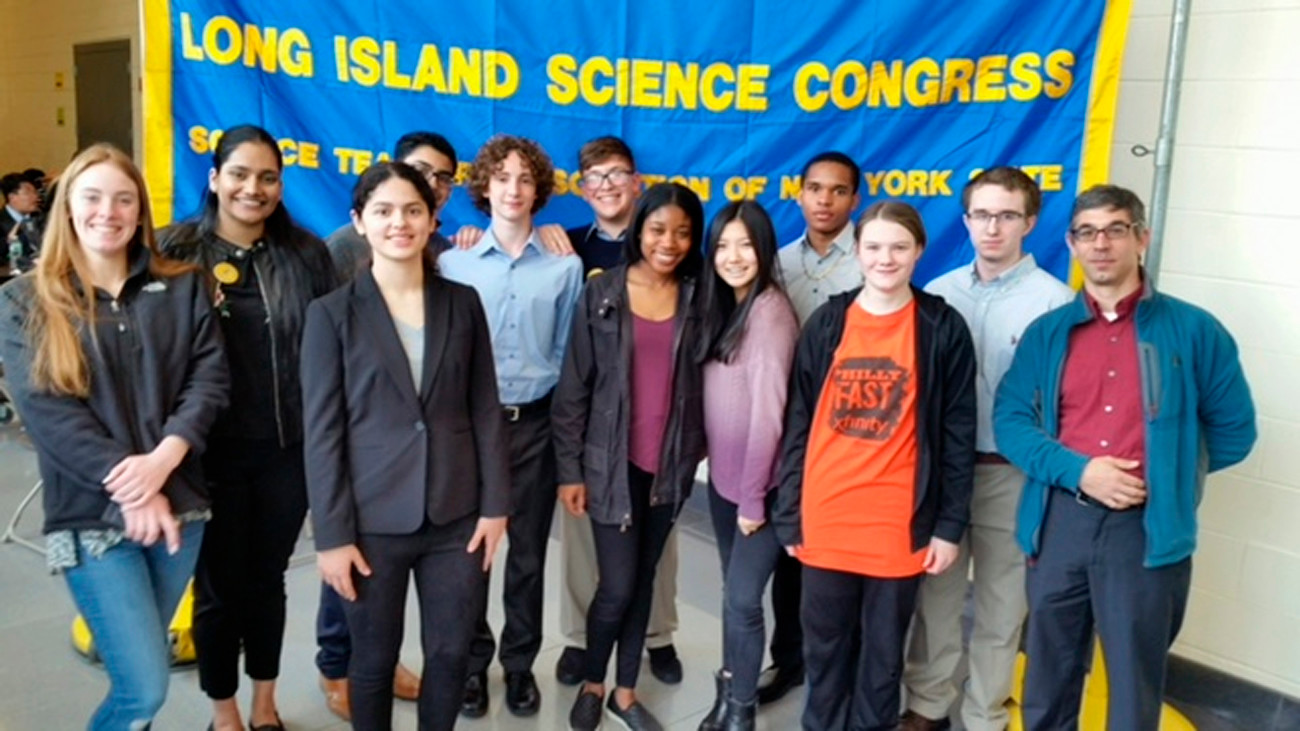West Hempstead students in the senior division presented their science research projects at the Long Island Science Congress competition.