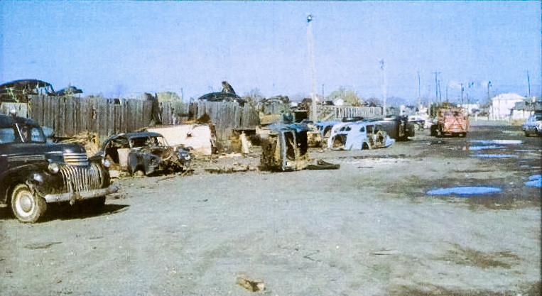 The original Freeport Junk Yard in the 1950's