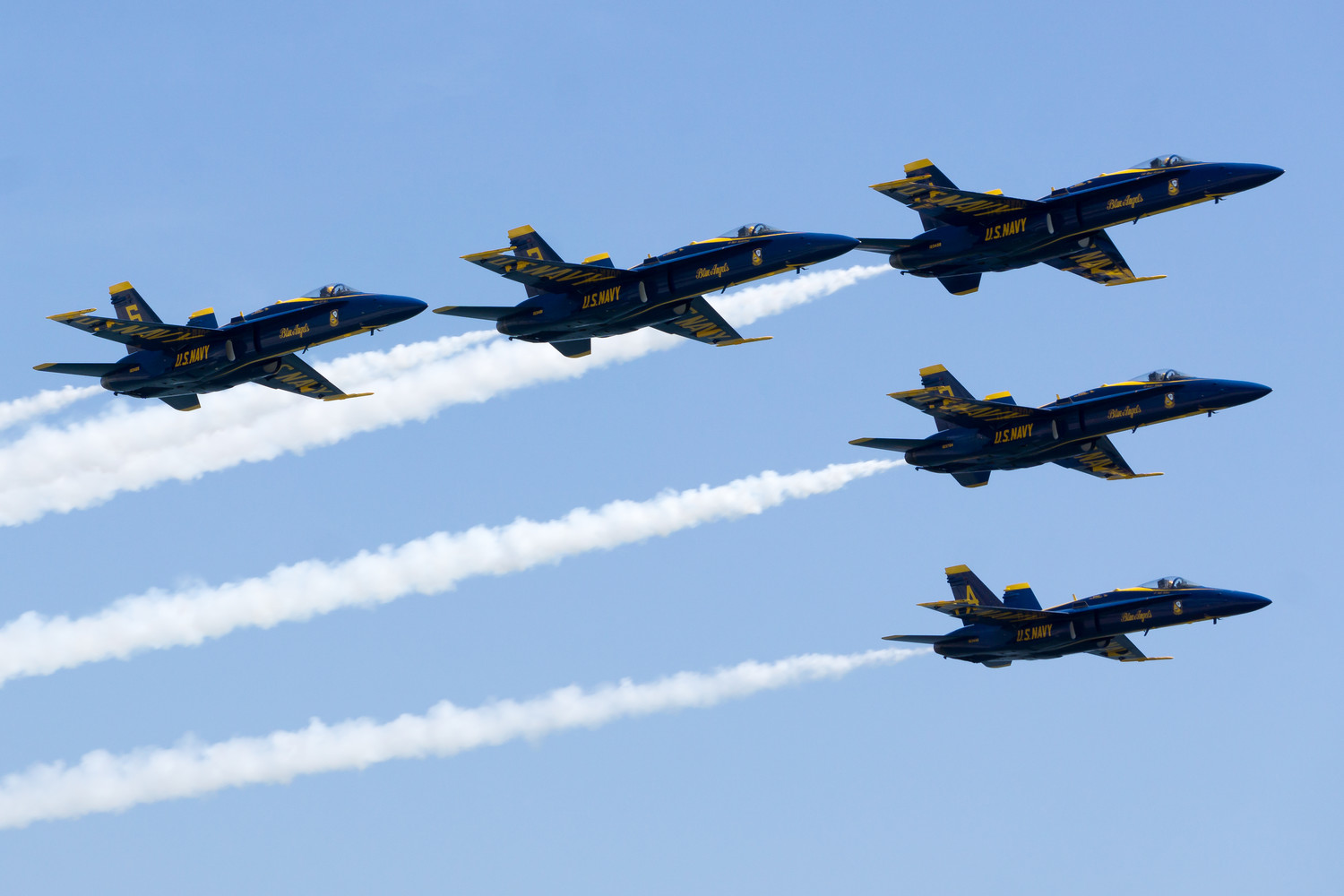 The Navy's Blue Angels, this year's headliner, performed at the 2016 show, which drew over 450,000 spectators.