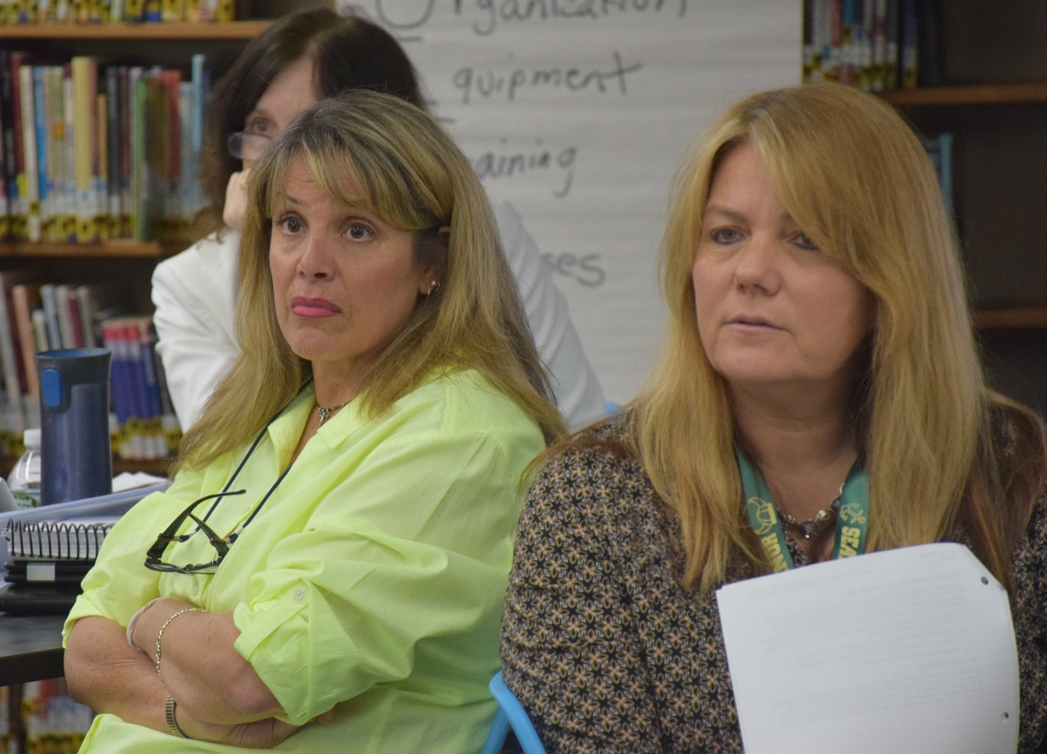 From left, Wantagh High School Principal Carolyn Breivogel and Seaford Manor Elementary School Principal Debra Emmerich were among the participants.