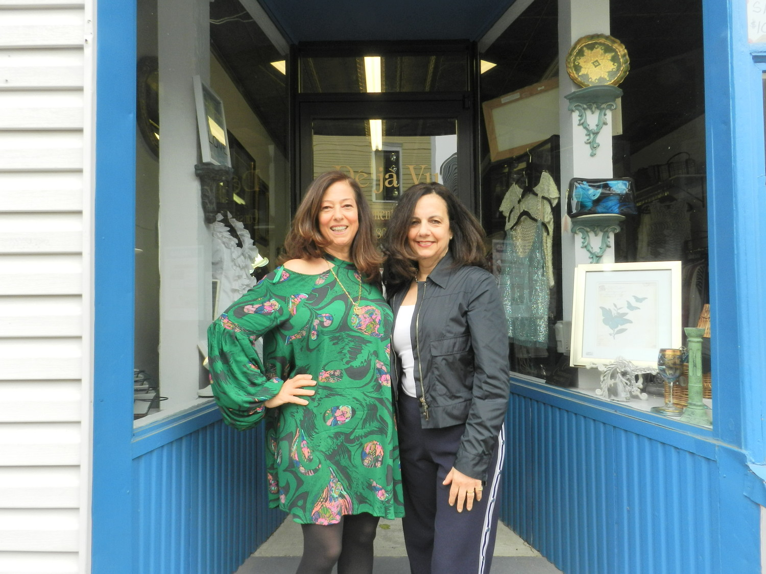 Business partners Nancy Berlangero, left, and Marion Lippiello opened Déjà Vu last year. They have been friends for more than 30 years.