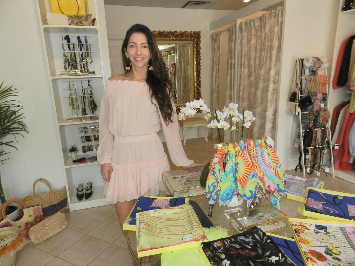 Lifelong Oyster Bay resident Gabrielle Fumai opened Sorelle after 10 years of working as a buyer in the high-end fashion industry.