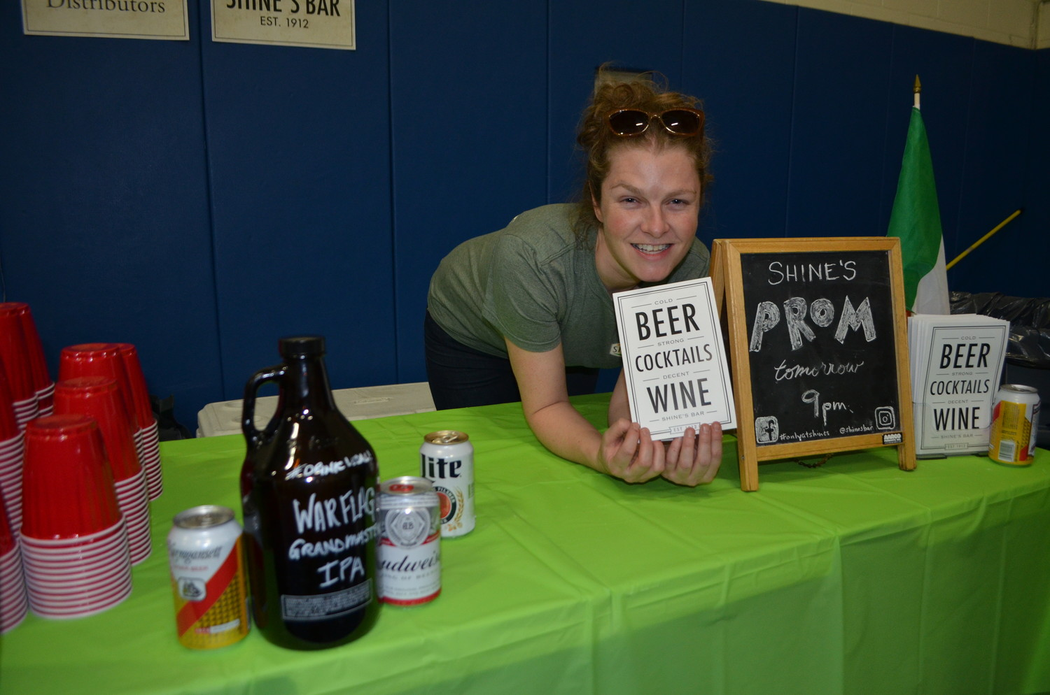 Megan Casey of Shine's Bar in the West End served different types of beer at the annual Tasting by the Sea fundraiser hosted by the Ancient Order of the Hibernians Division 17.
