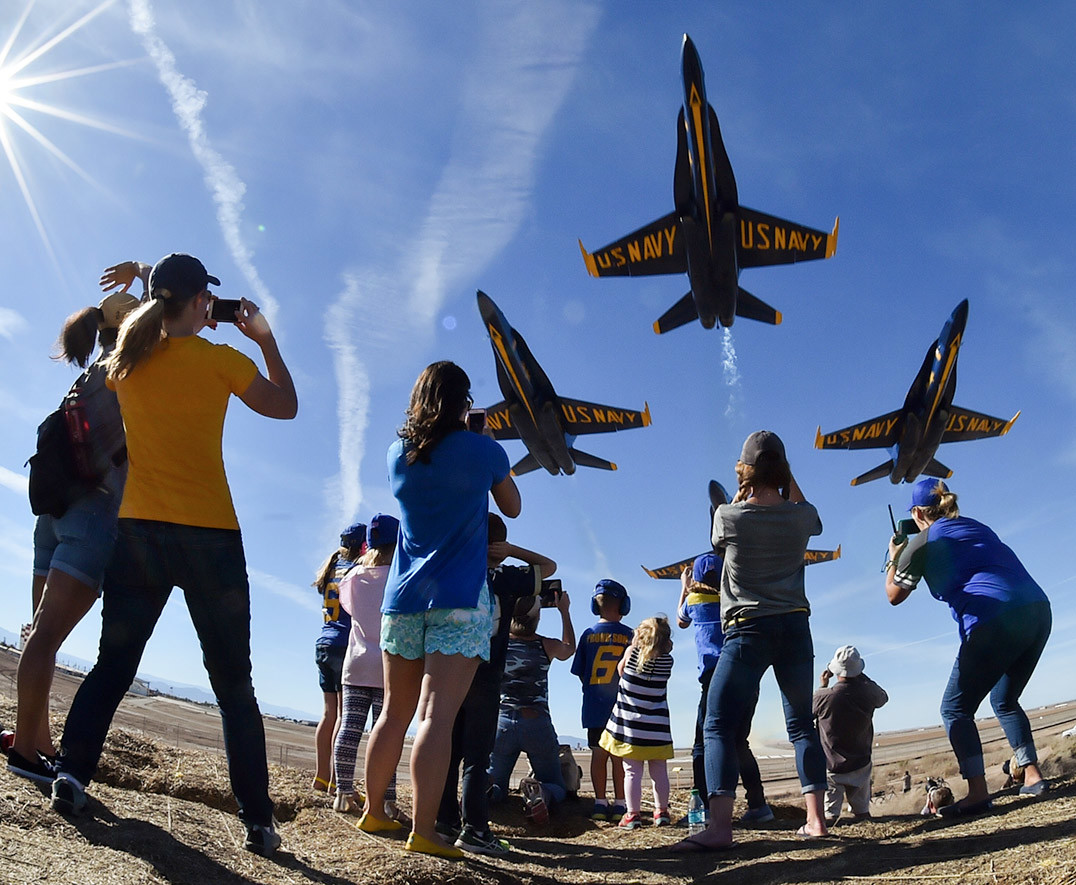 The renowned U.S. Navy Blue Angels are back in action at Jones Beach this weekend.