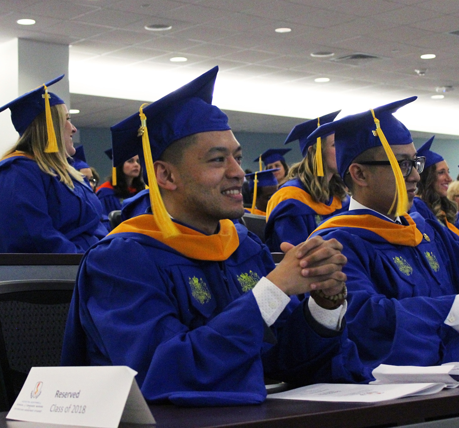 Christian Velez, 28, of East Meadow, is one of the graduates of Hofstra University and Northwell Health's nursing program.