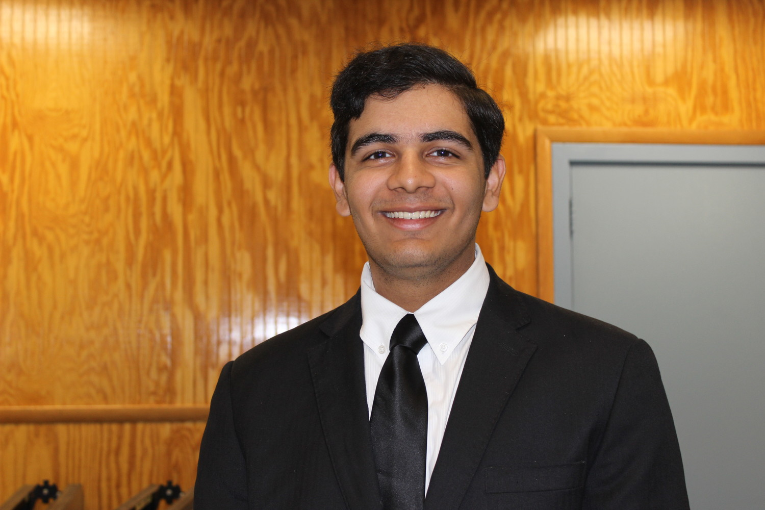 Eshan Shakrani, a junior at W. T. Clarke High School, shared with the Herald his goal of breaking into the field of computer engineering during a mock job interview.