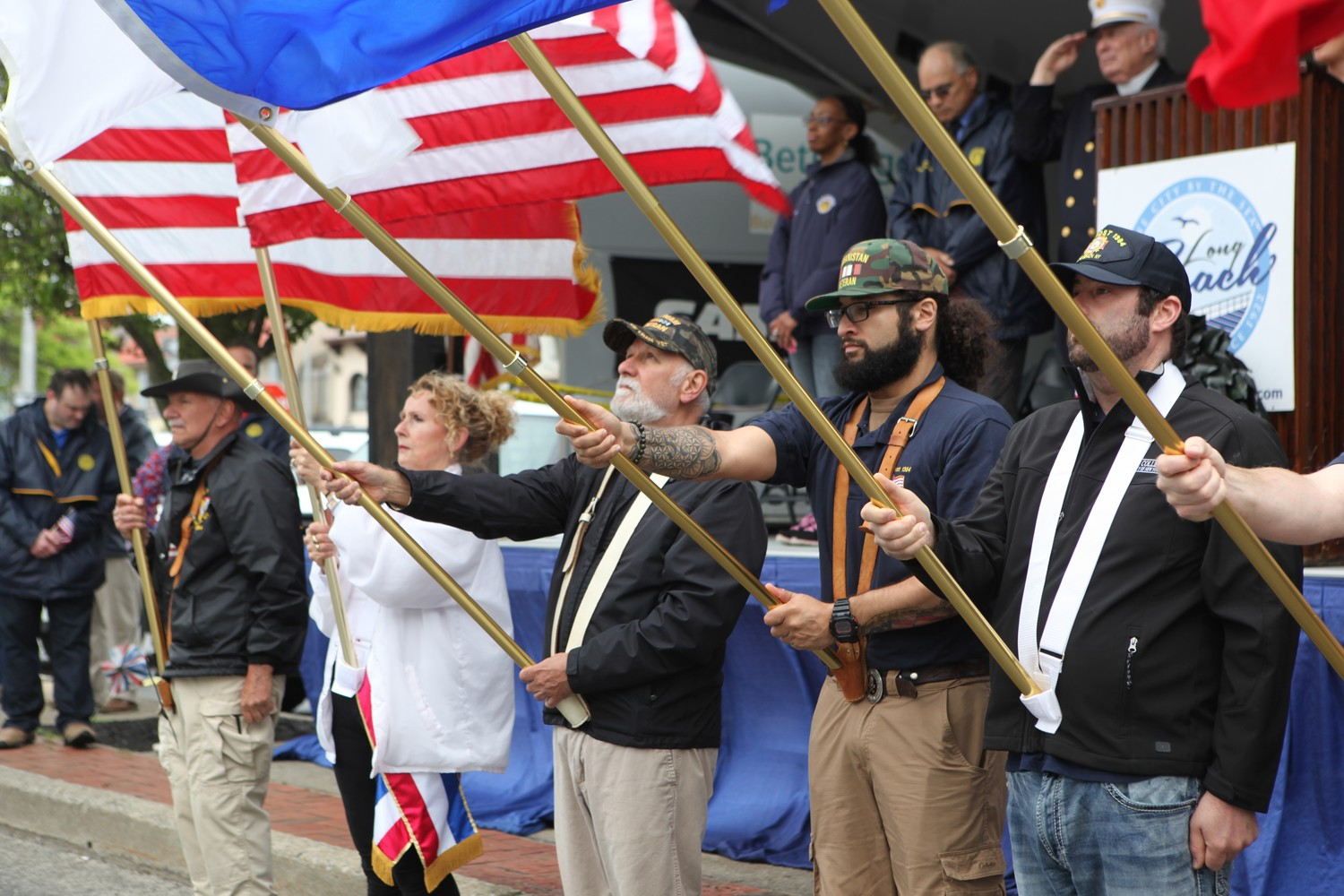 VFW members paid tribute to the country's fallen soldiers