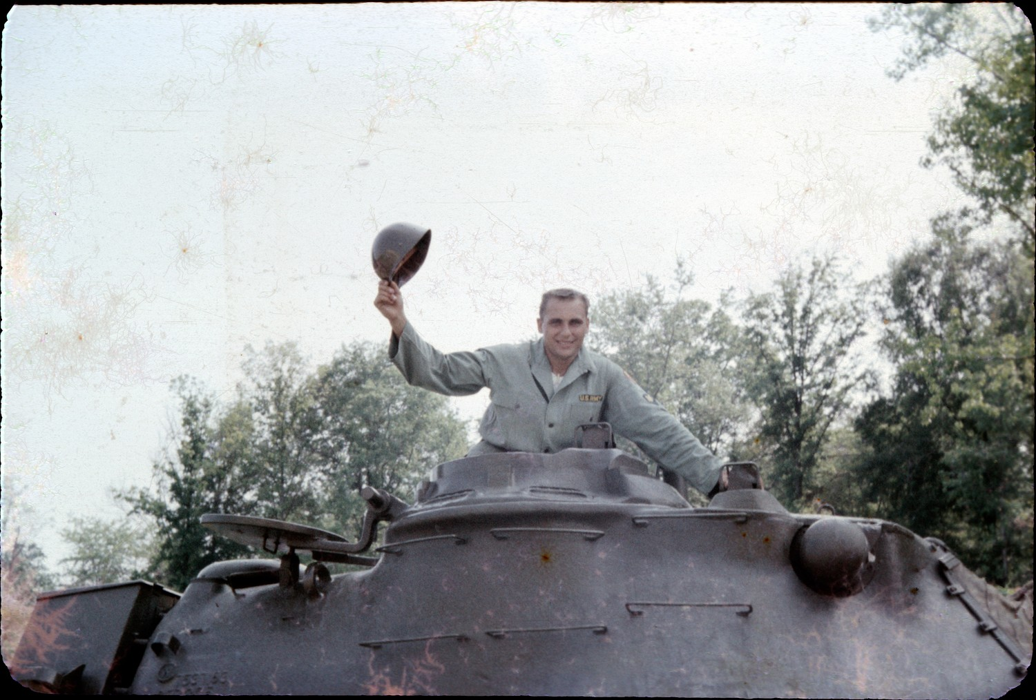 "Henry ""Mickey"" Hastava, above, stood in an M48 Patton tank commander's cupola in 1959 at the Aberdeen Proving Grounds in Aberdeen, Md., where he was assigned to record the effectiveness of weapons and their crews during training."