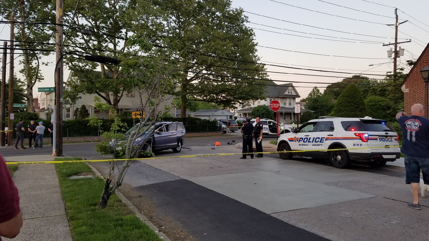 The intersection of Rockaway and Dubois Avenues was closed following a motorcyclist's death.