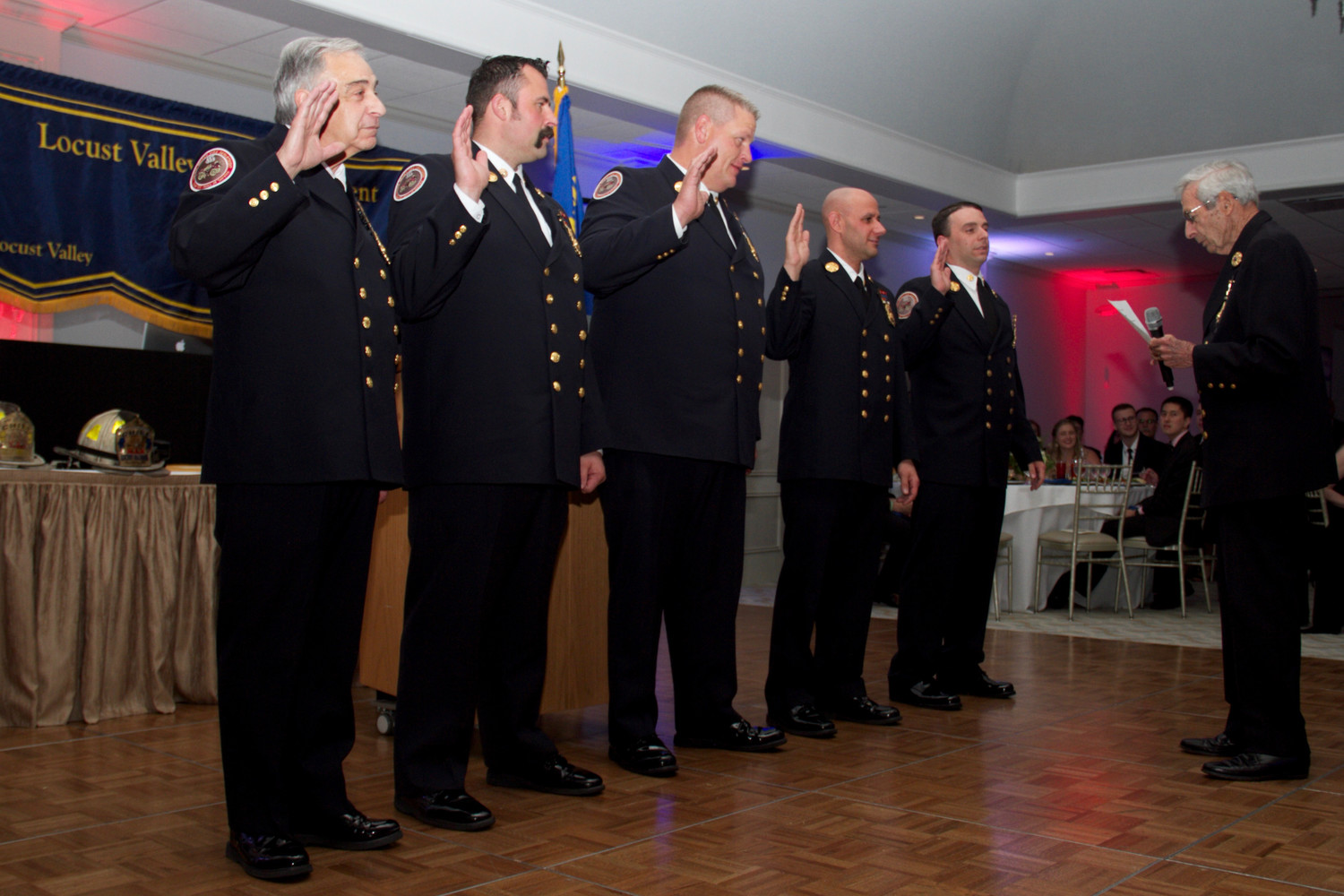 Locust Valley Fire Department officers were installed.