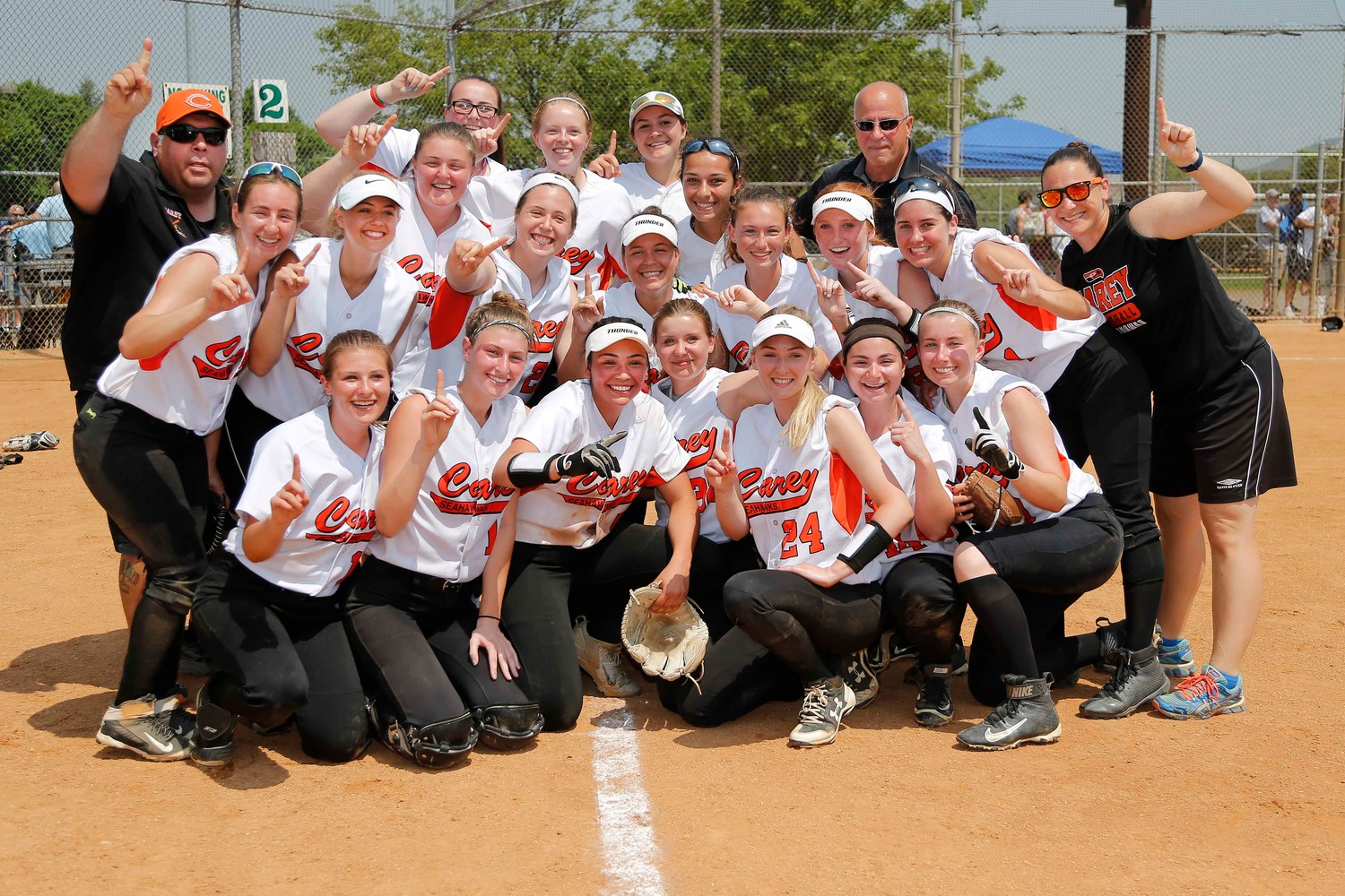 Carey captured the Nassau Class A softball title on Saturday with a 6-2 win over Mepham.