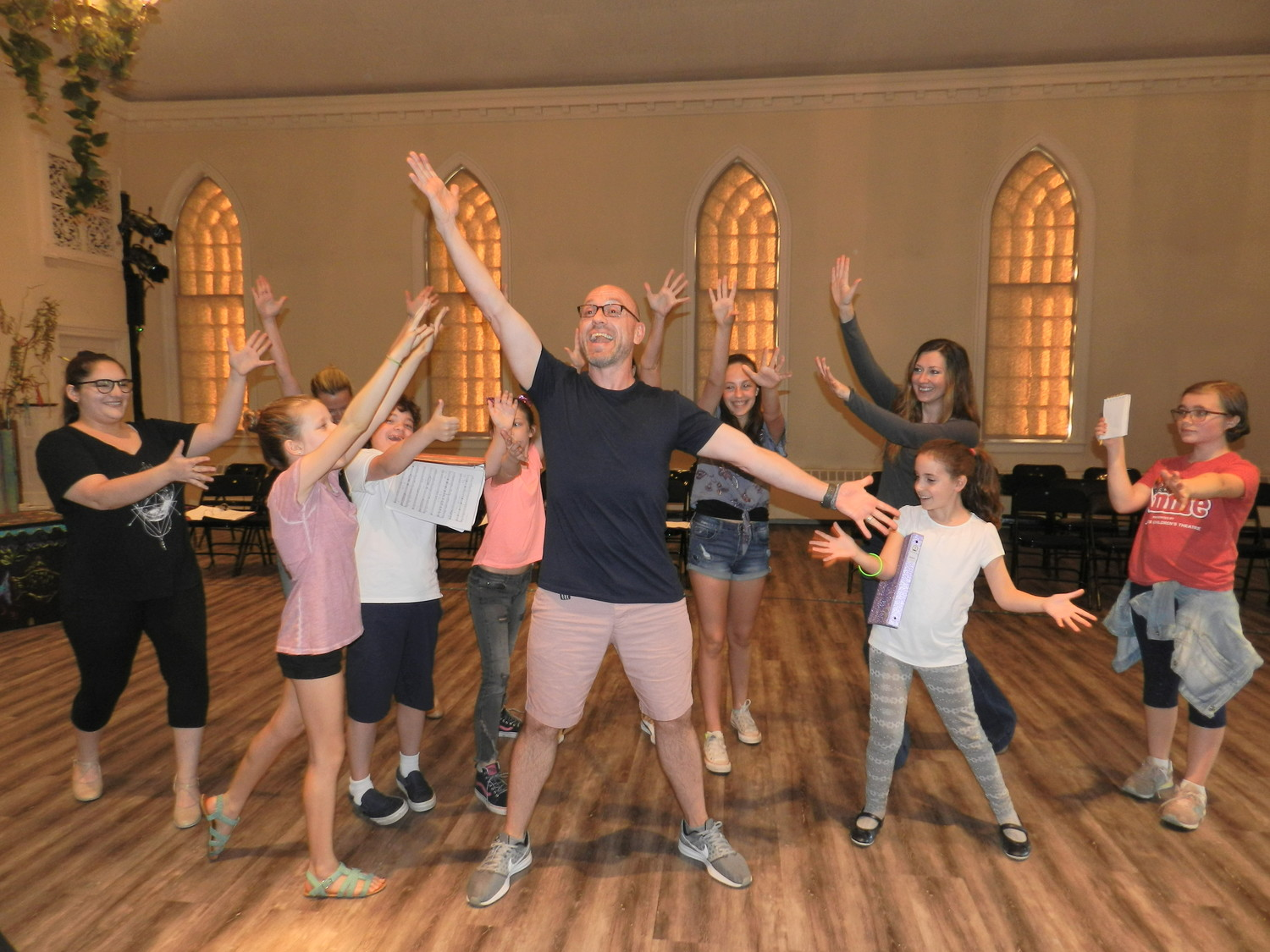"The cast of the original musical ""The Red Cape"" has been rehearsing at the Glenwood Life Center."