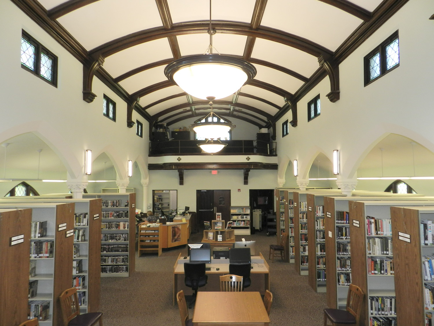 The interior of the Sea Cliff Village Library after renovations.