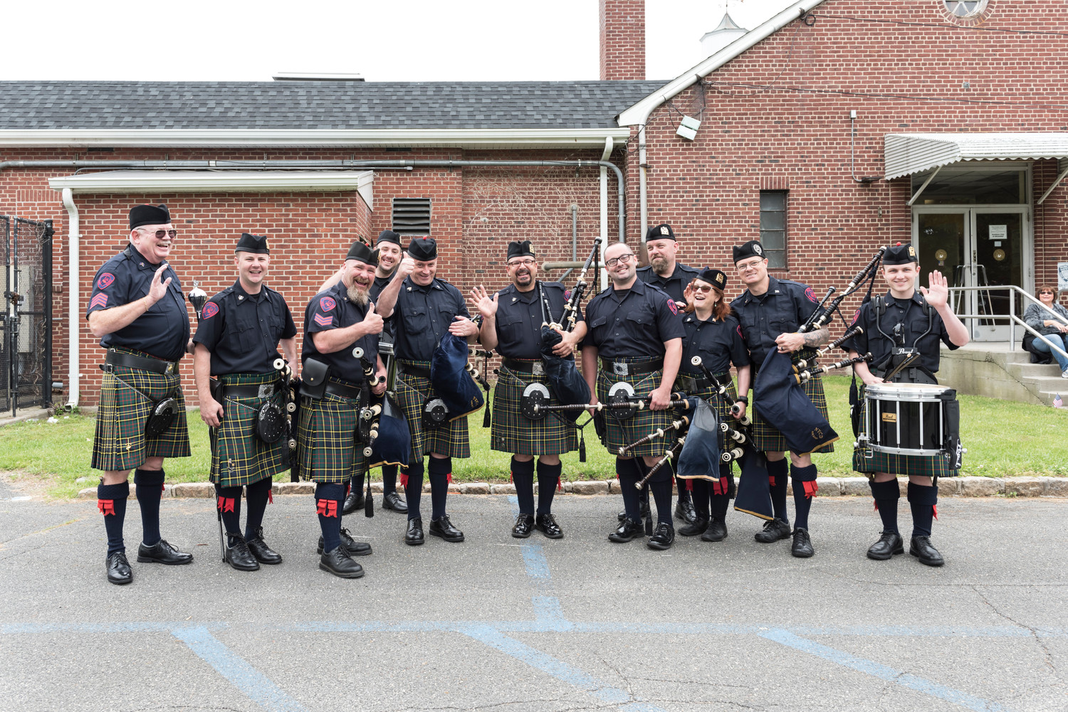 Members of the New York Corrections Department Pipe Band provided a little bagpipe magic at the parade in Glen Head.