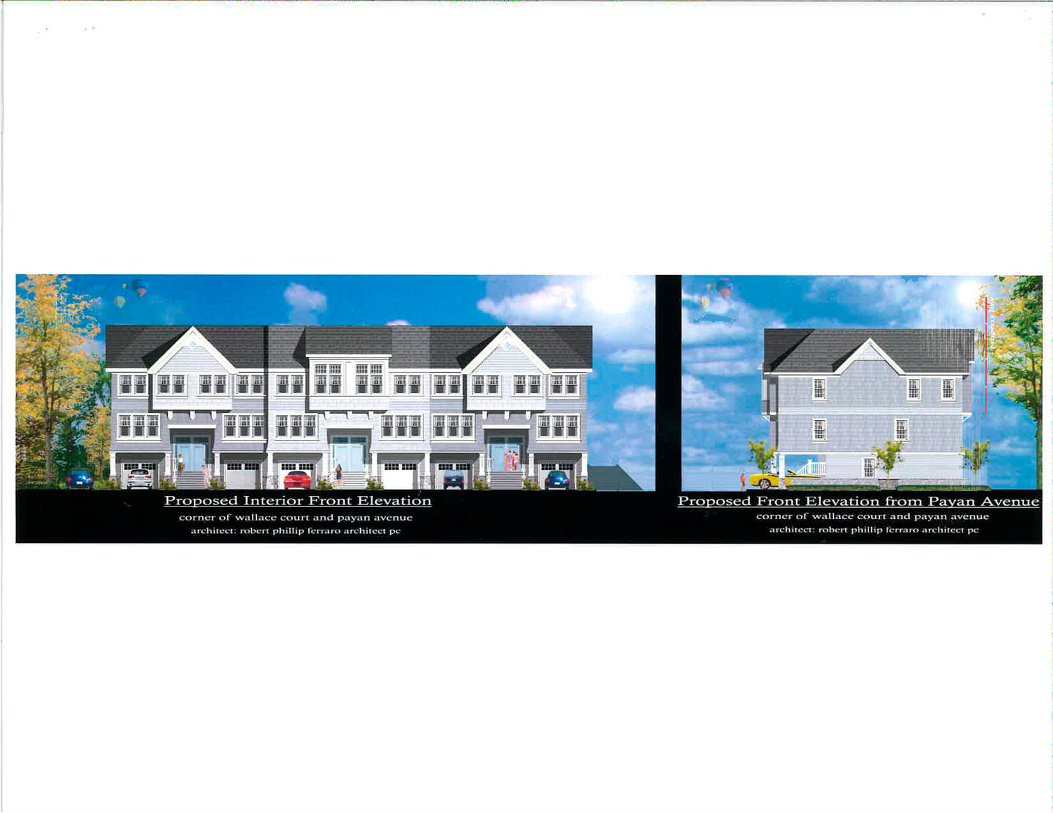 A rendering of the townhouses proposed for Wallace Court.