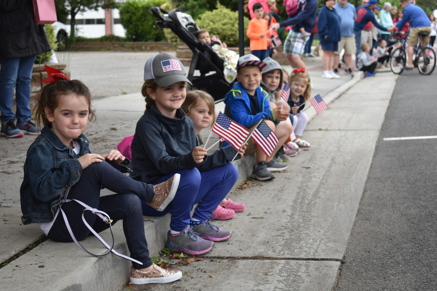 Children gathered to watch the parade.