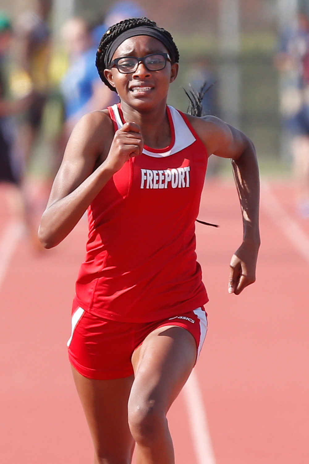 Freeport sophomore Alexandra Yarborugh finished fourth in the 100 meter dash at the Nassau Class AAA championship meet last Friday at Long Beach.
