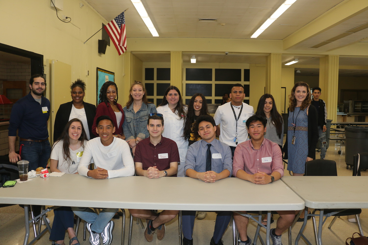 A group of West Hempstead High School alumni returned to their alma mater on May 23 to speak with current students.