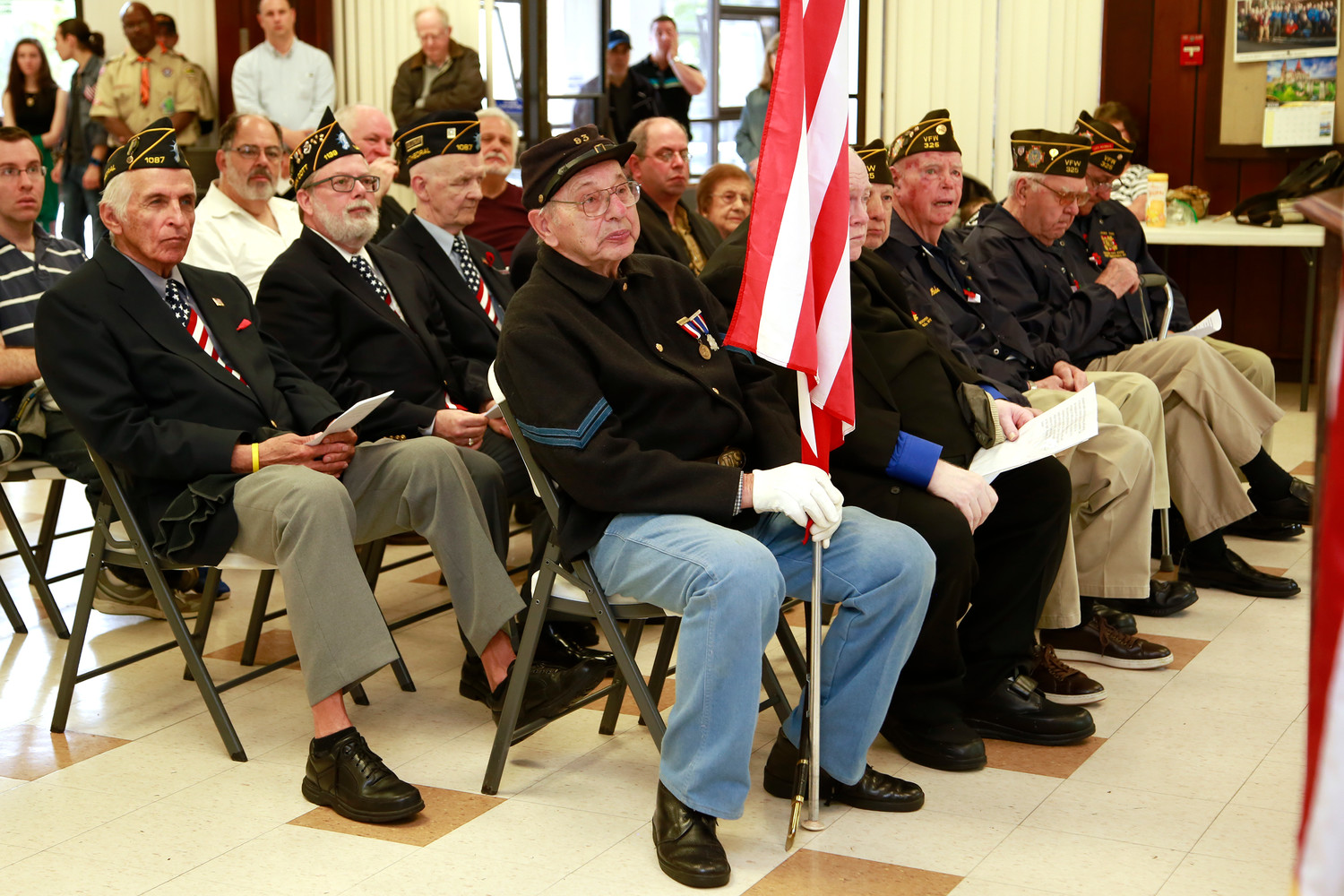 West Hempstead's American Legion listened as speakers discussed the importance of honoring our veterans on Memorial Day.