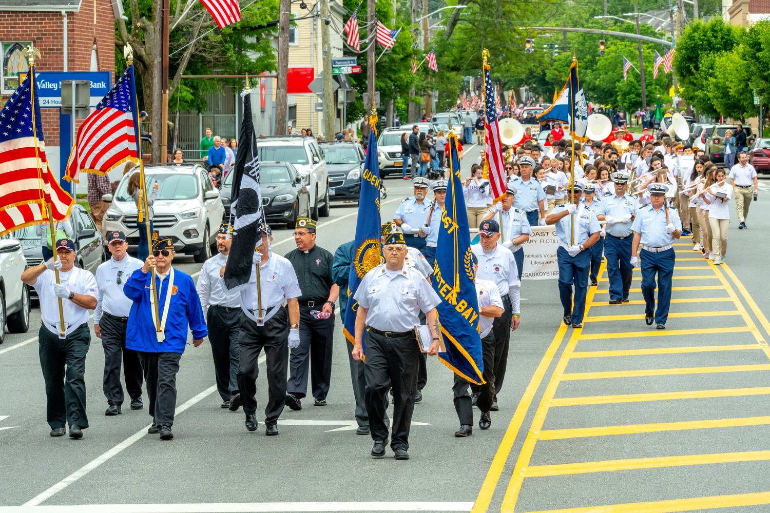 Oyster Bay Quentin Roosevelt Post 4 American Legion hosted Oyster Bay's Memorial Day Parade. Veterans from other organizations joined them at the parade.