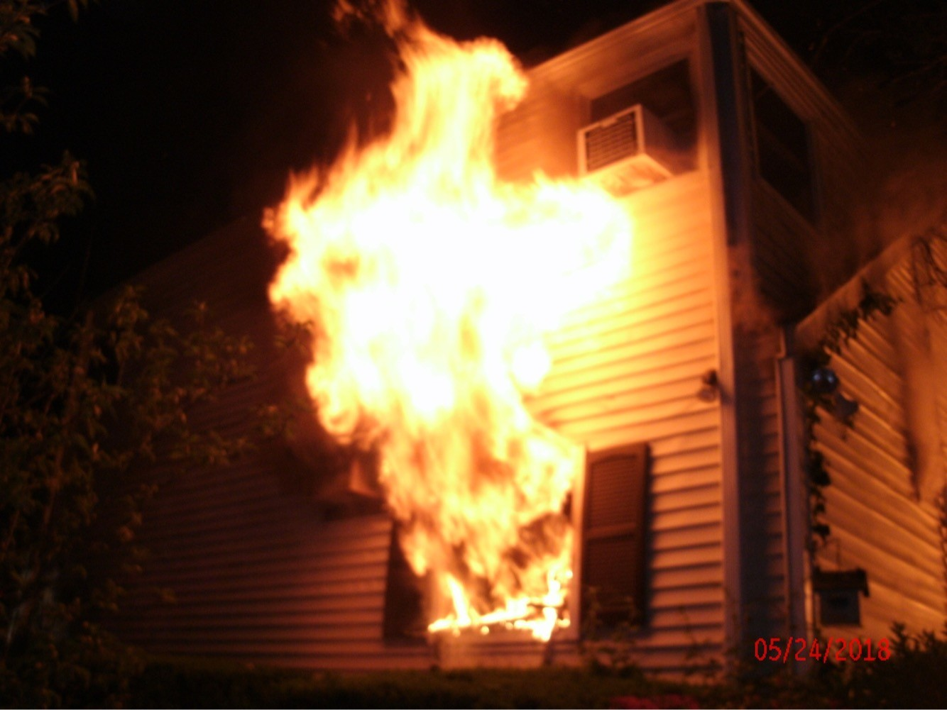 Roger Humes' home on Harwich Road in East Rockaway caught fire in the early morning hours of May 24.
