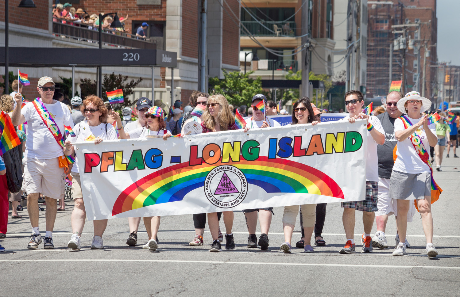 Members of the advocacy group Parents, Family and Friends of Lesbians and Gays Long Island at last year's Long Island Pride Parade.