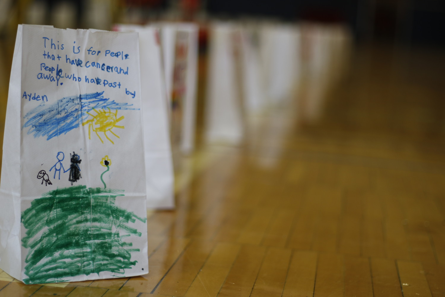 Attendees made bags that honored cancer fighters.