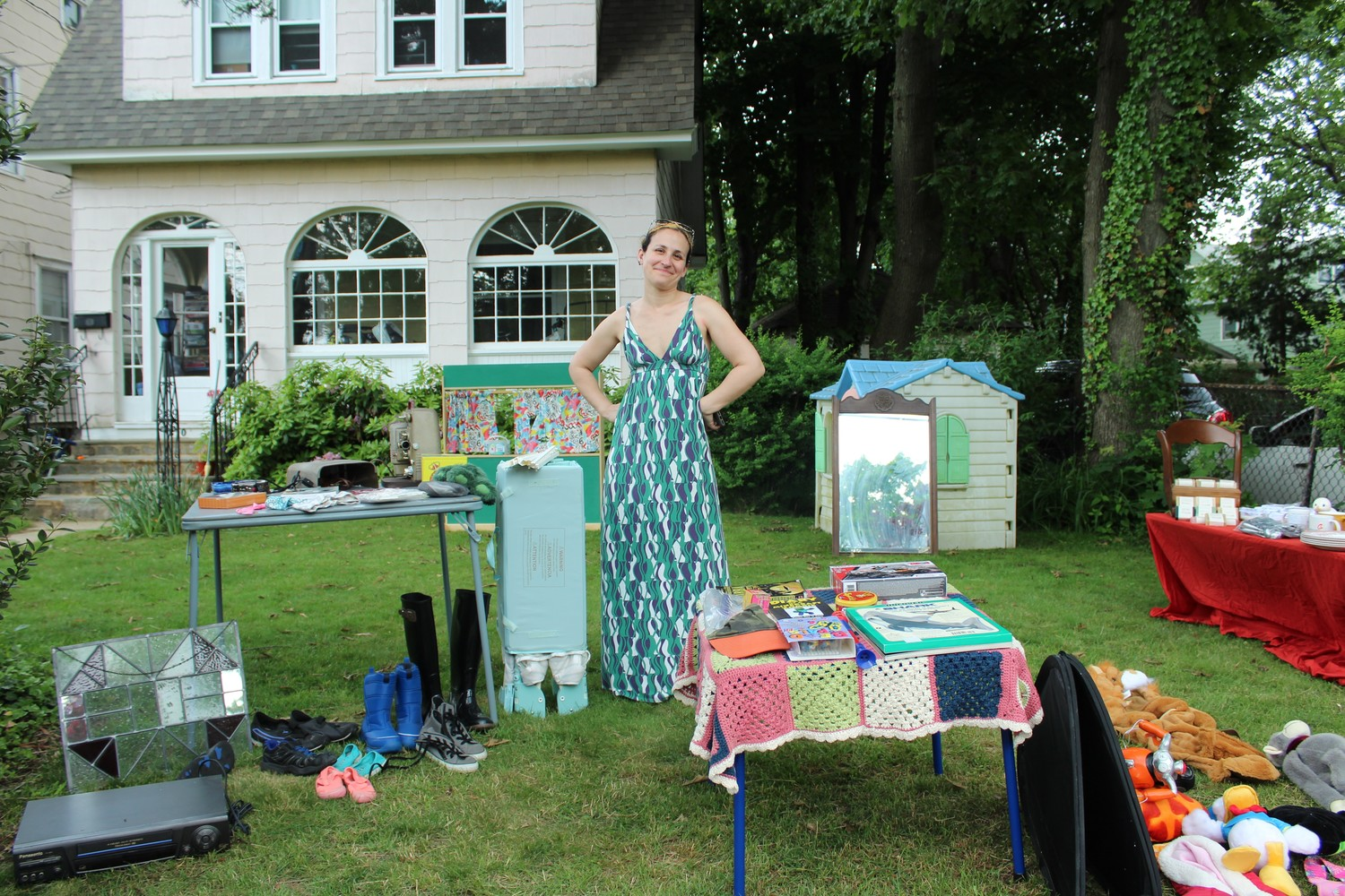 Hannah Hunter's lawn was filled with fun items for sale.