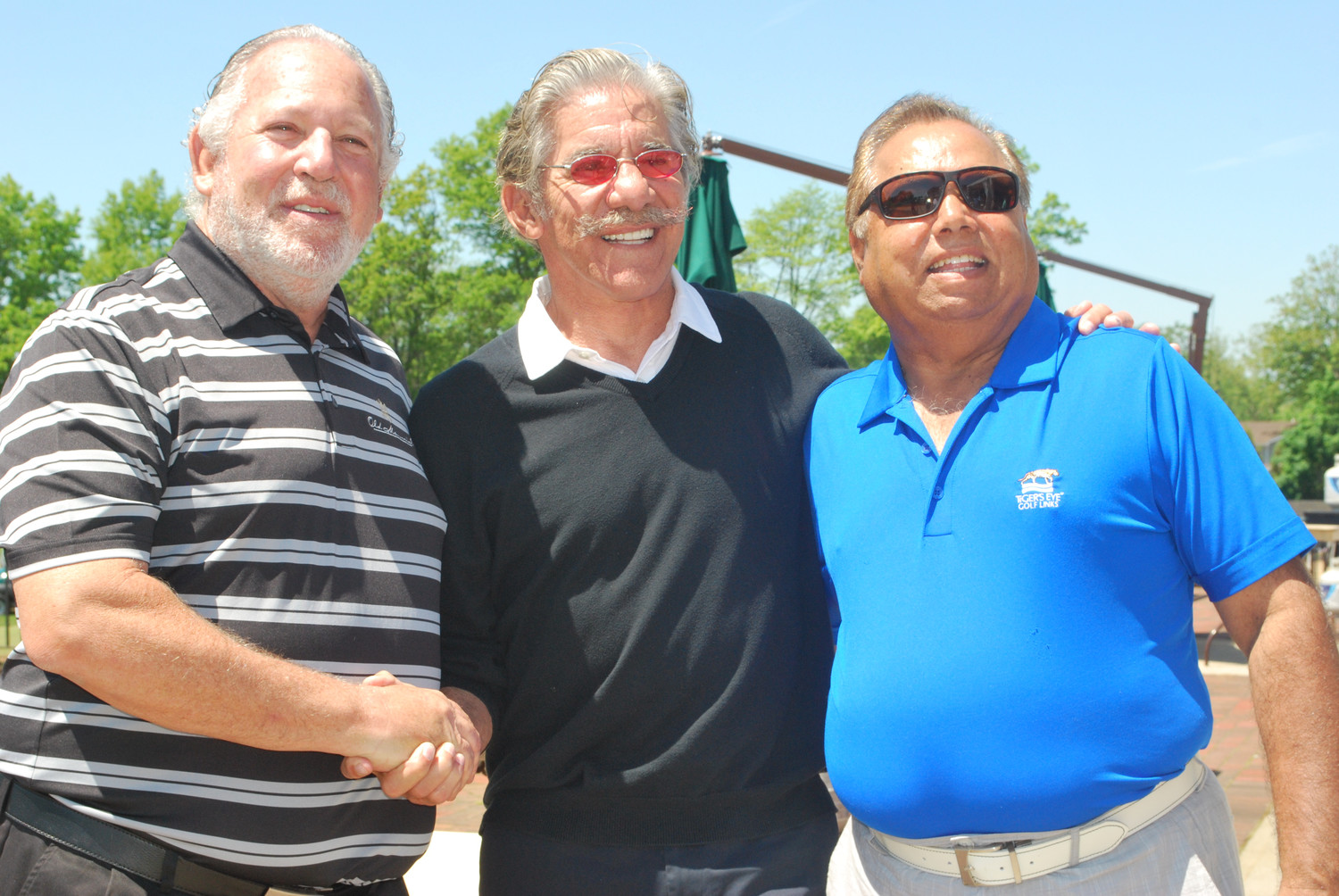 Life's WORC held its 31st annual Geraldo Rivera Golf Classic at the Seawane Club on May 24. From left Guest of Honor Barry Koff, Rivera and Guest of Honor Tariq Khan.