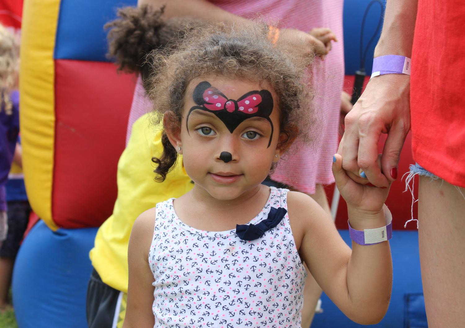 Callie Whitehall, 2, enjoyed the children's activities at Hope Day while her mom Jillian Meagher volunteered at the charitable event.