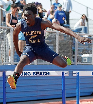 Baldwin senior Russell Johnson has enjoyed a big spring in the 400 hurdles, winning the Division 1B title and qualifying for the state meet for the first time.