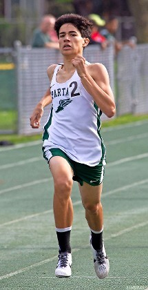 Sophomore Christian Cicilia captured the Nassau Class A title in the 3000 meter steeplechase to help the Spartans continue their dominance in spring track and field.