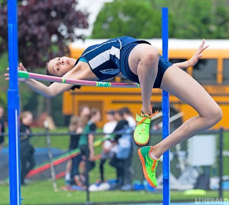 Junior Anyia Wilson was the Division 3A champion in the high jump and placed third in Nassau Class AA in the event to help the Lady Bulldogs to another county title.