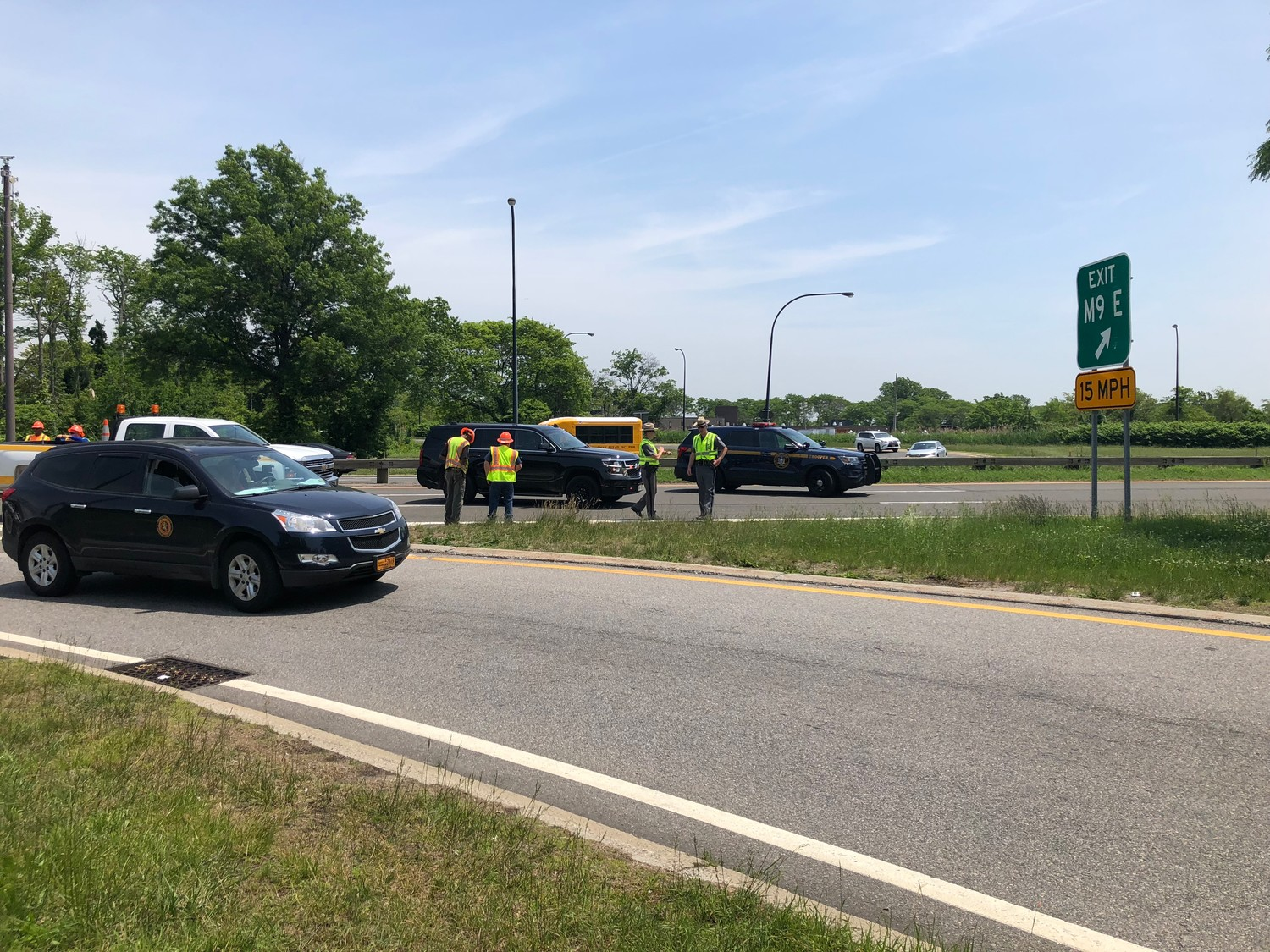 Drivers were diverted off of exit M9 on the Meadowbrook Parkway.