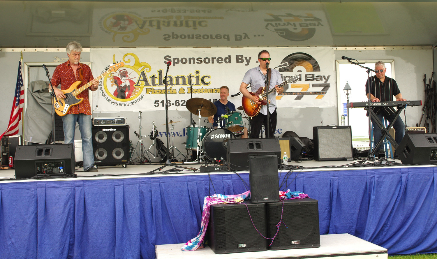 The Gary Seller Band played at the Nautical Mile Festival. John Aggesen, left, was on bass; Scot Foley, drums; Gary Seller, vocals; and Sal Dipasquale, keyboard.