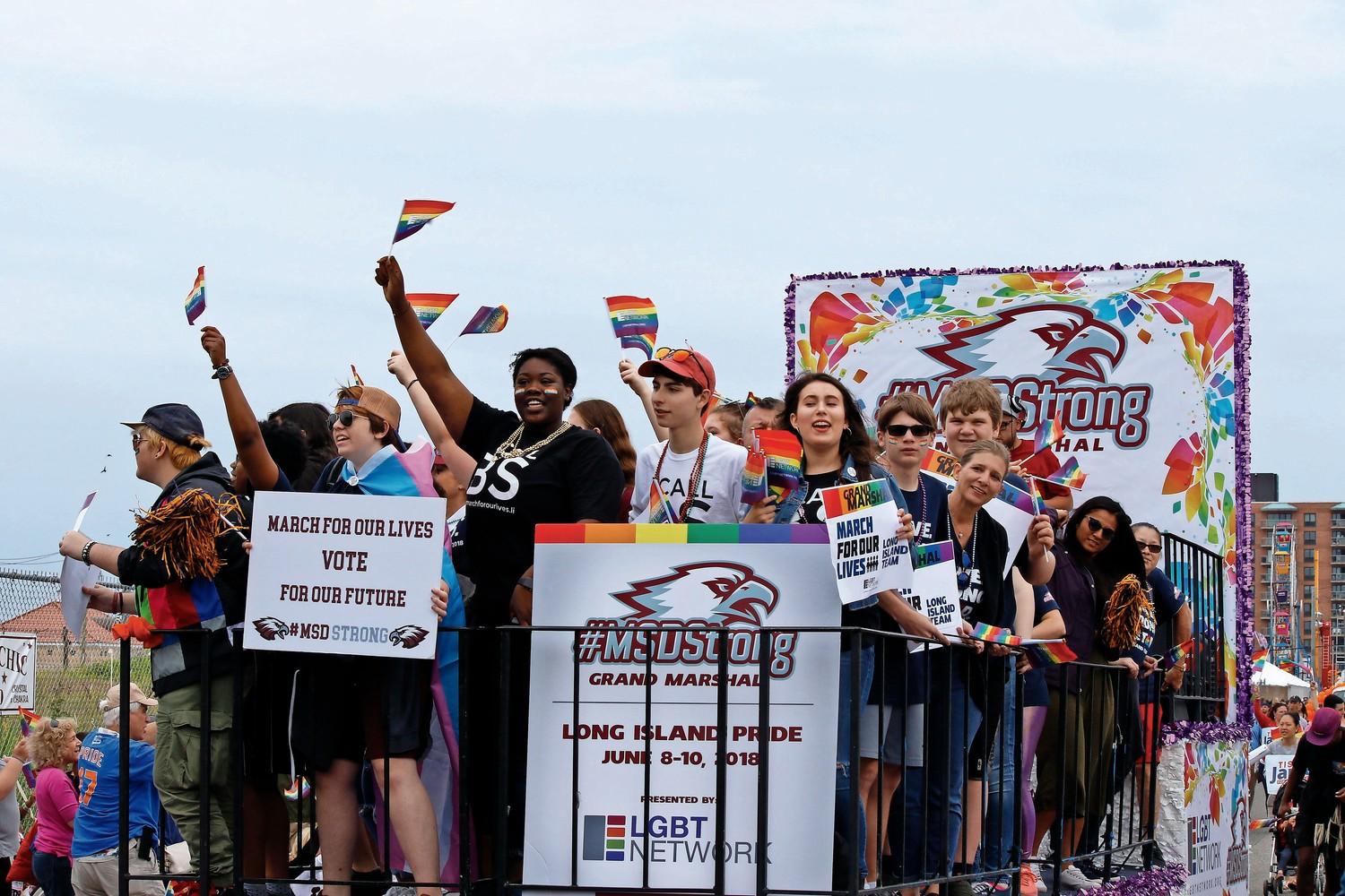 Parkland students led the parade as this year's grand marshals.
