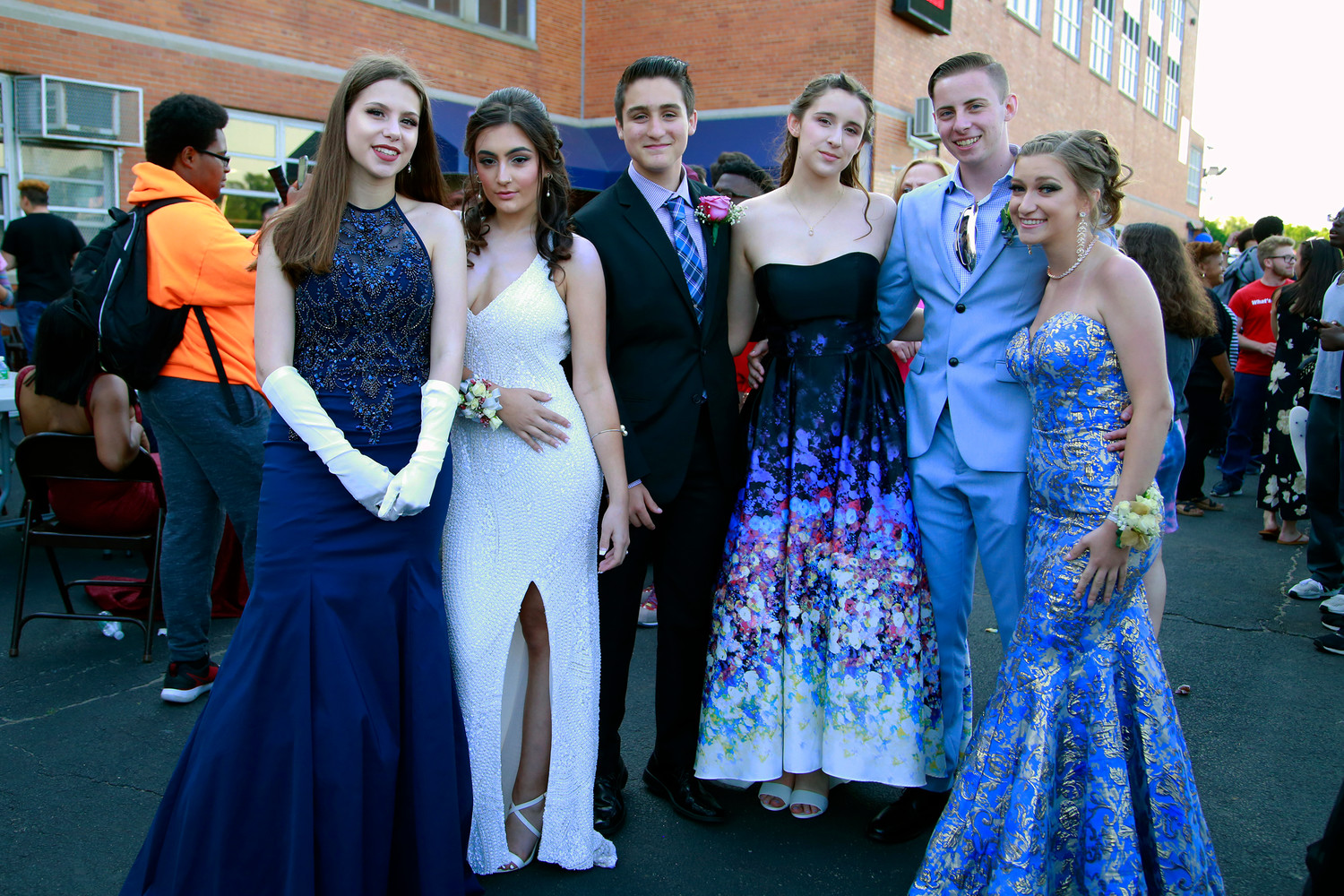 Our Lady of Lourdes Youth Ministry members Elizabeth Ray, far left, Rosa Romano, Christian Rodriguez, Estela Laureano, Shane McGovern and Olivia St. John.