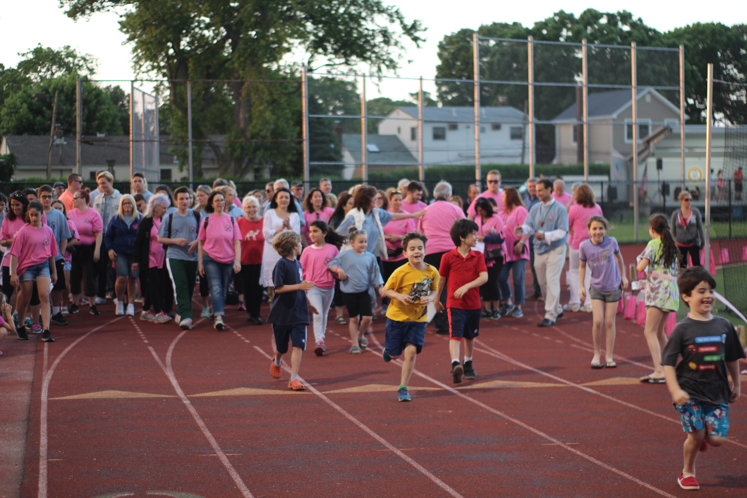 Seaford residents and other Long Islanders took to Seaford High School's track to participate in the event, which benefited the Susan Satriano Memorial Foundation.