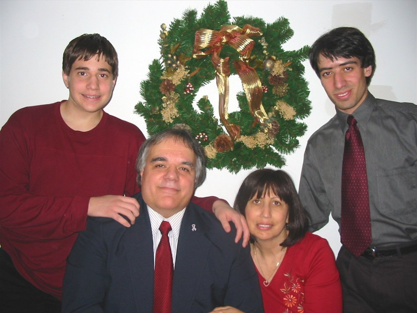 Justin, left, Joe, Susan and Matthew Satriano celebrated Christmas for one of the last times as a family before Susan died of breast cancer in 2005.
