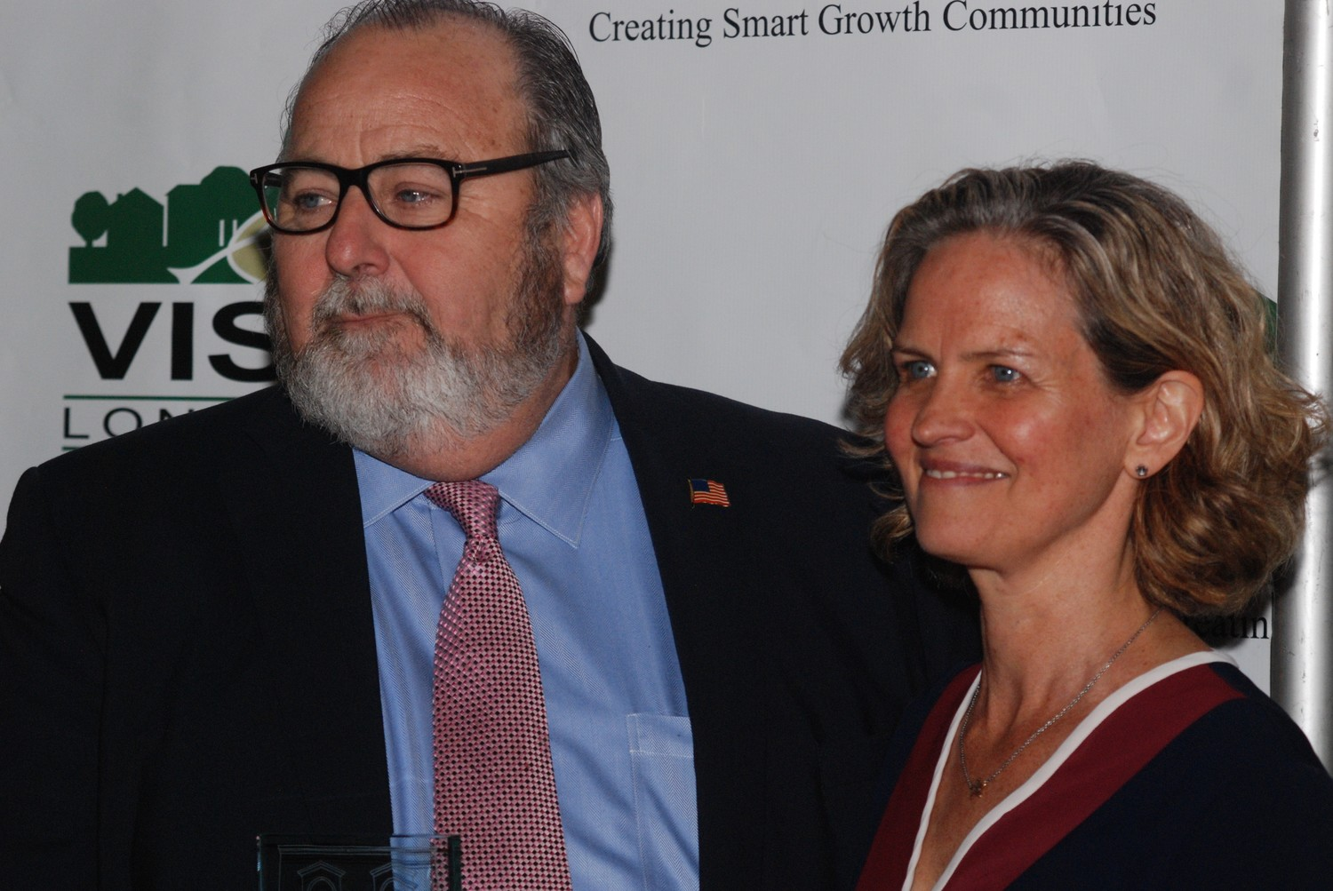 Rockville Centre Mayor Francis X. Murray and Nassau County Executive Laura Curran attended Vision Long Island's 17th Smart Growth Awards on June 8 at the Crest Hollow Country Club in Woodbury.