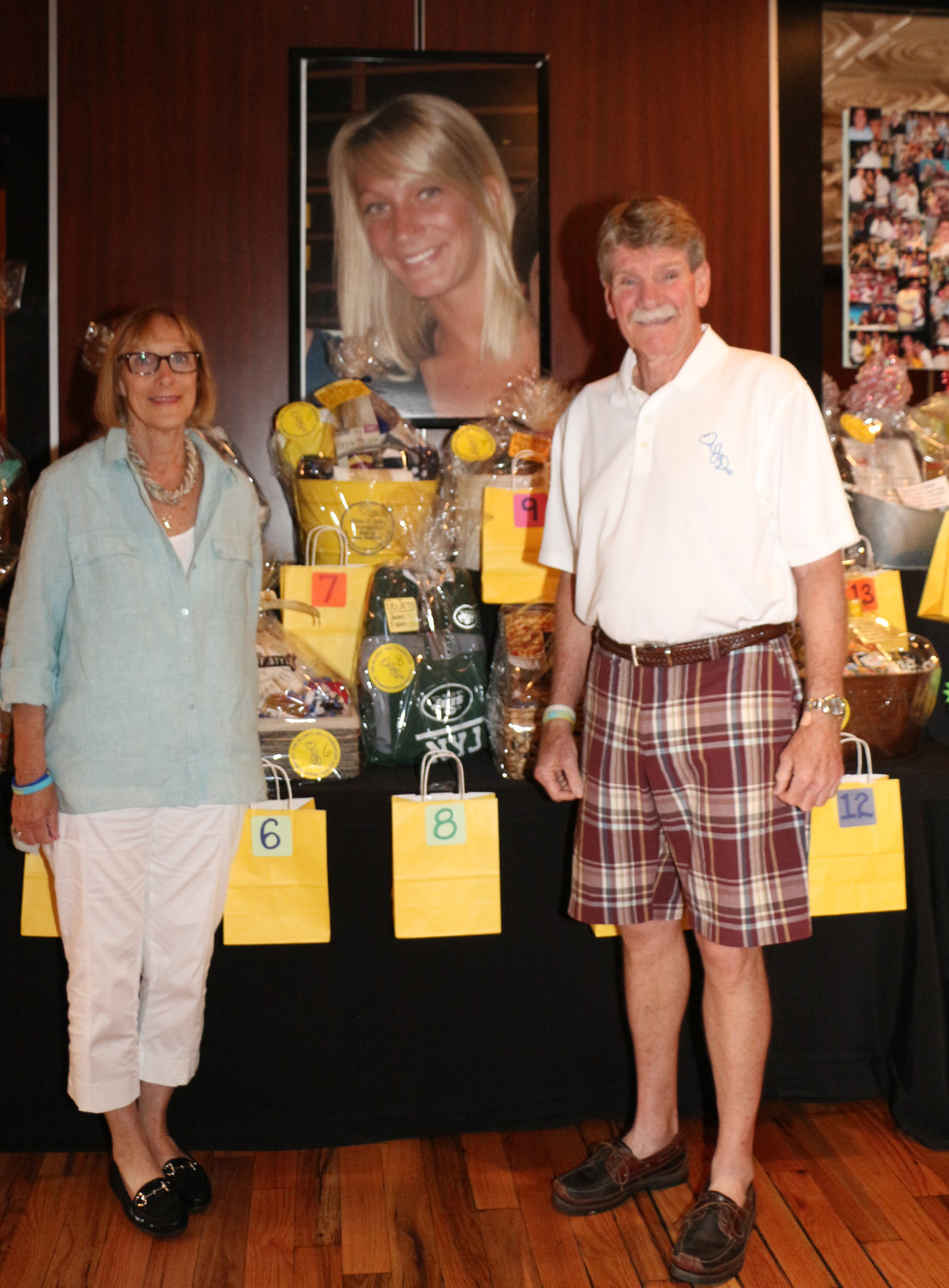Virginia and Robert Daly put together baskets to be raffled off during a fundraiser on June 9 for the Jillian E. Daly Foundation, named for their daughter.