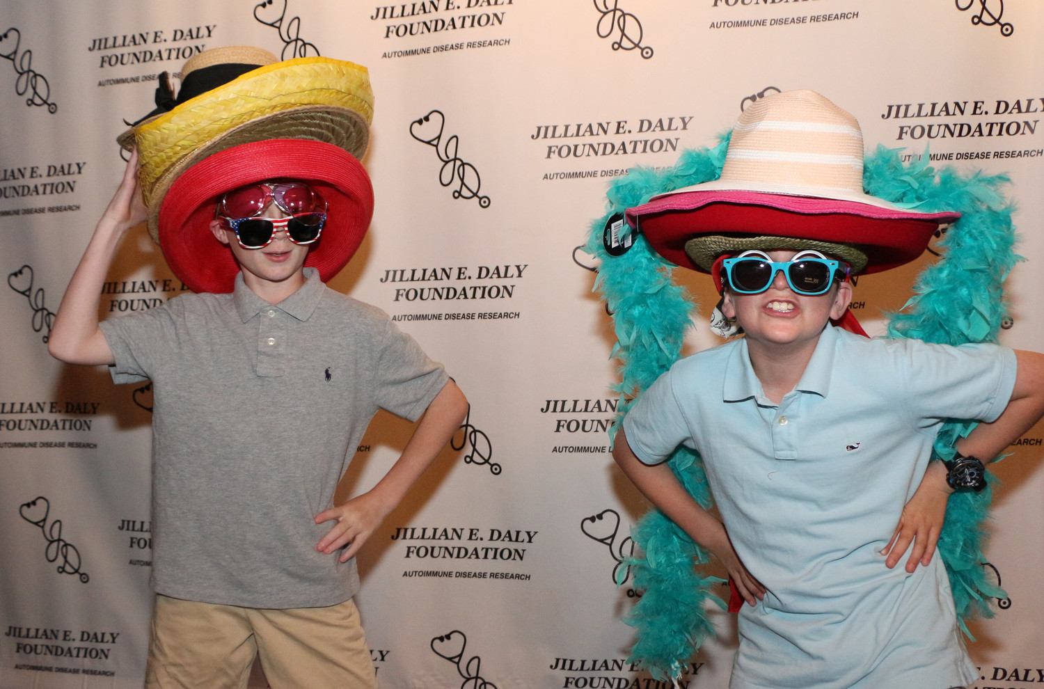 Justin Cawlfield, 11, left, and Finn Sweeney, 11, joined in on the fun.