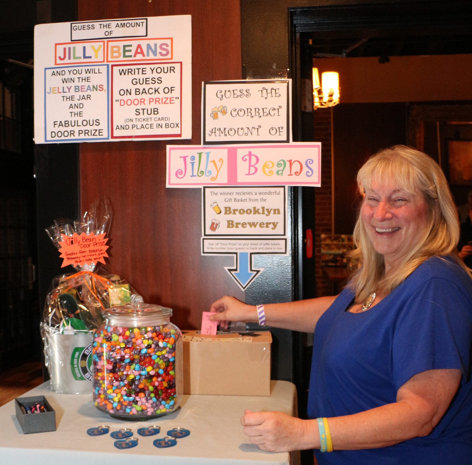 Patti Scaduto, Jillian's aunt, created the Jilly Bean Jar as part of the fundraising.