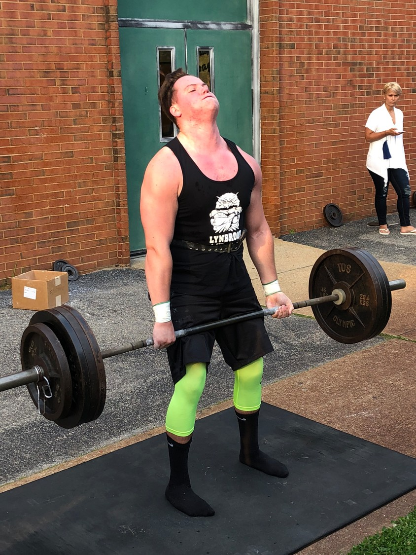 Gerard D'Agostino deadlifted more than 350 pounds en route to his second consecutive heavyweight championship in the Lynbrook Strongman competition.