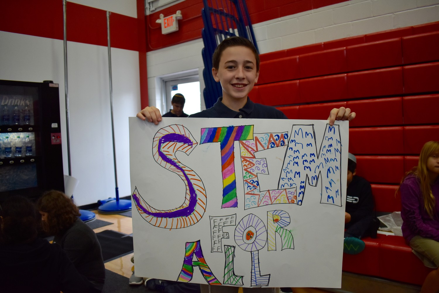 Joey Cohen, a sixth-grader at HAFTR Middle School, showed his enthusiasm for STEM education.