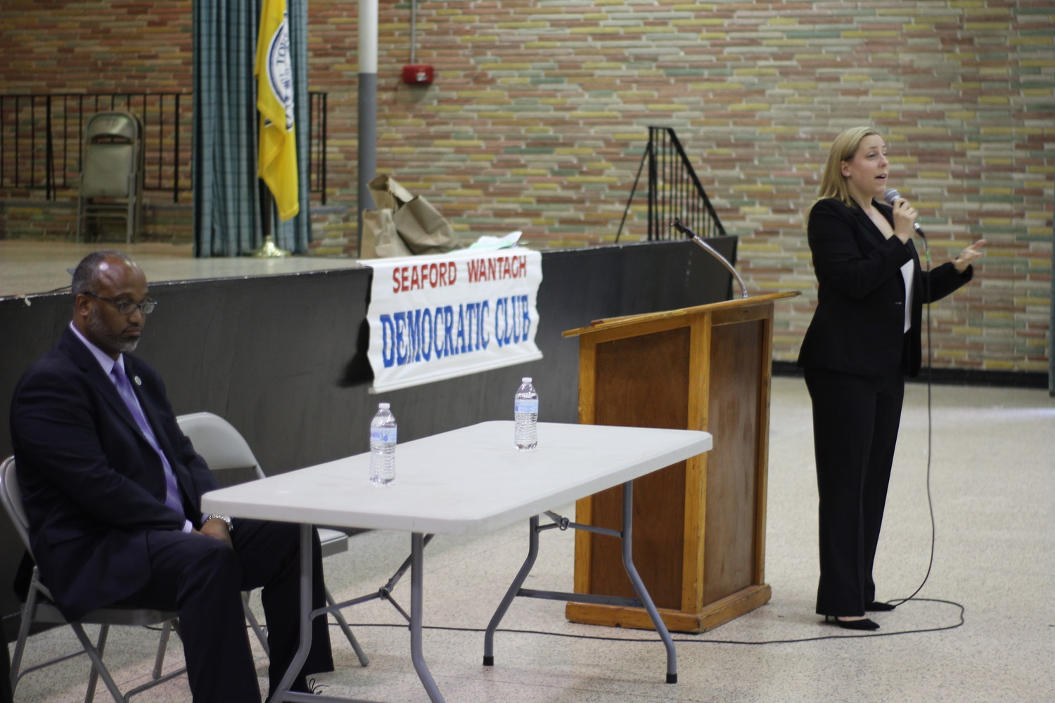 Liuba Grechen Shirley is a first time candidate, running against King for the 2nd Congressional District which includes Seaford and parts of Wantagh