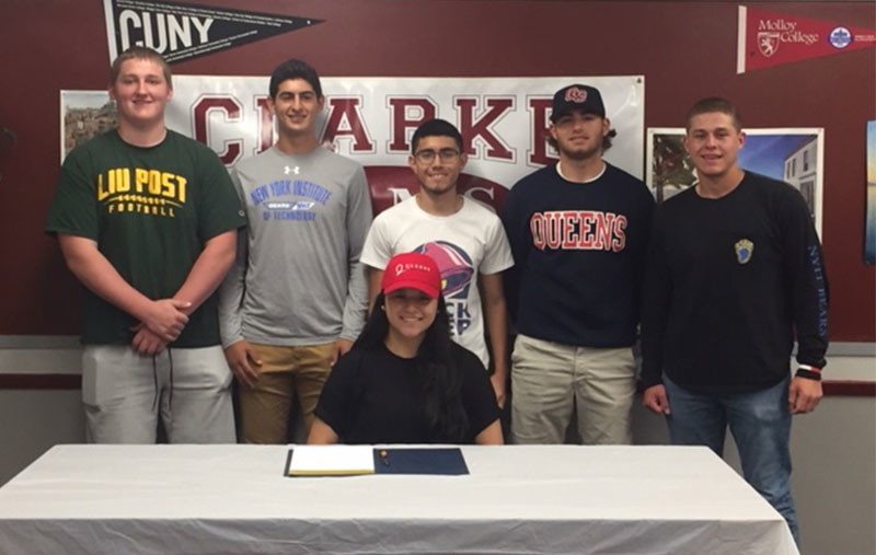 W.T. Clarke High School seniors signed national letters of intent with college-level athletic programs.