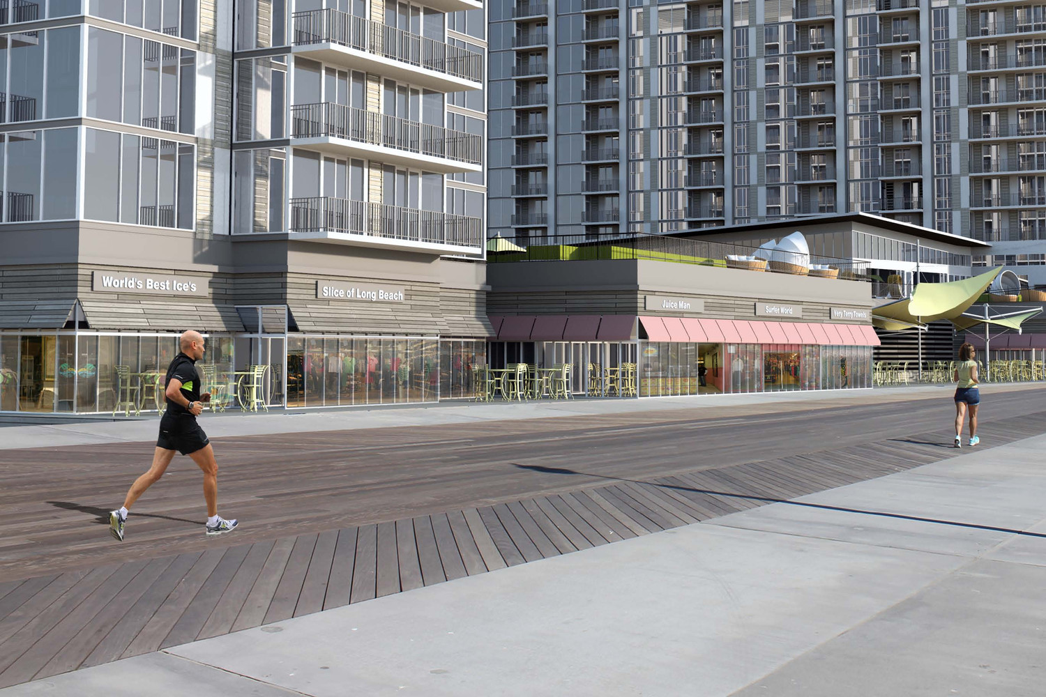 "A group of residents have filed a motion to dismiss a portion of the developer iStar's $100 million lawsuit against the city, claiming that an agreement the parties reached in 2014 is now ""illegal."" Above, a rendering of the mix of residential and commercial space iStar is planning for the long-vacant Superblock property."